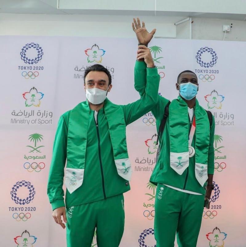 طارق حامدي مع وزير الرياضة