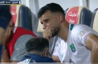 عمر السومة يبكي - الأهلي والحزم