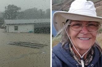 لحظة صادمة لمسنة أمريكية تسجل آخر لحظاتها قبل أن تجتاحها الفيضانات