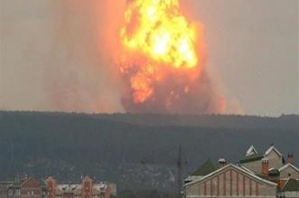 لحظة انفجار بمستودع ذخيرة في كازاخستان وإصابة 60 شخصًا - المواطن