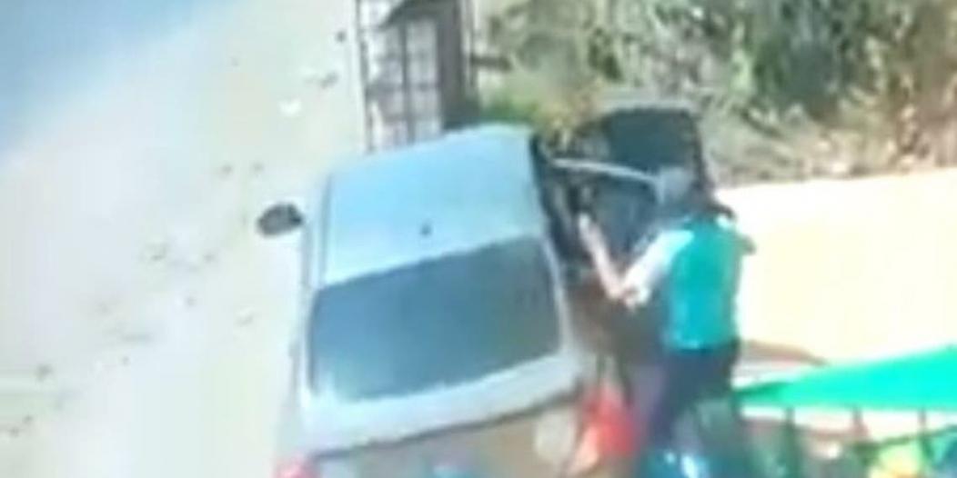 خطف طفل من أمام أمه بمصر والكاميرات توثق الحادث
