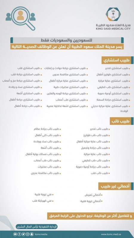سعود الطبية تفتح باب التقديم على عشرات الوظائف الصحية - المواطن