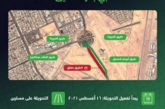 تفعيل تحويلة مرورية على طريق أبي بكر الصديق بالرياض - المواطن