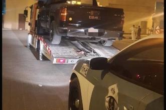 مفحط حي الياسمين بالرياض في قبضة رجال المرور - المواطن
