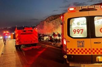 إصابة 8 أشخاص في تصادم مروع بطريق الباحة - العقيق - المواطن