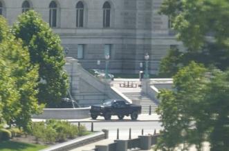 المشتبه به أمام مبنى الكونغرس يسلم نفسه للشرطة - المواطن
