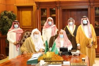 سماحة المفتي يستقبل وفدًا من مجلس إدارة جمعية الدعوية للصم