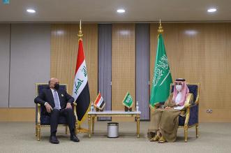 وزير الخارجية يستقبل نظيره العراقي ويبحثان التعاون المشترك