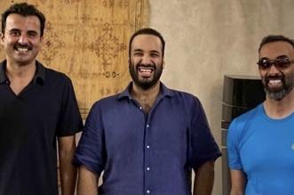 لقاء ودي أخوي يجمع محمد بن سلمان وتميم بن حمد وطحنون بن زايد في البحر الأحمر - المواطن