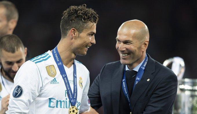 زيدان مدرب ريال مدريد مع رونالدو