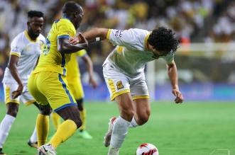 أحمد حجازي في مباراة النصر والاتحاد