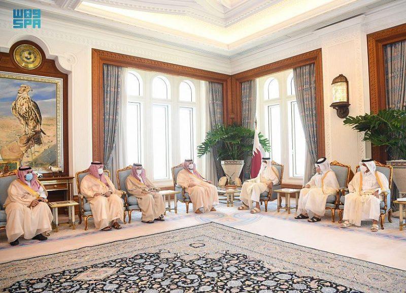 تركي بن محمد ينقل تحيات الملك سلمان وولي العهد لأمير قطر - المواطن