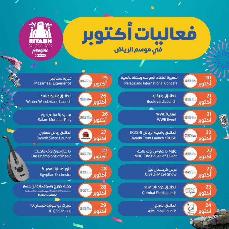 هذه أبرز الفعاليات الكبرى لـ موسم الرياض خلال أكتوبر - المواطن