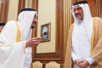 في قصر منى ..عبدالله آل ثاني على يمين الملك : تقدير لوسيط الخير - المواطن