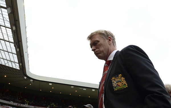 File photo of Manchester United's manager Moyes reacting ahead of English Premier League soccer match against Sunderland in Sunderland