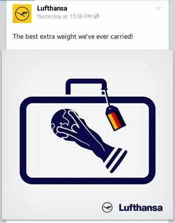 بالصورة.. خطوط الطيران الألمانية عن كأس العالم: أفضل وزن زائد حملناه