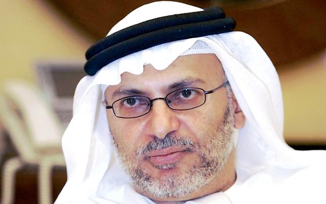 الدكتور أنور قرقاش وزير الدولة الإماراتي للشؤون الخارجية وزير الدولة لشؤون المجلس الوطني الاتحادي