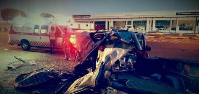 3 وفيات وإصابة حرجة بحادث مروع  (1)