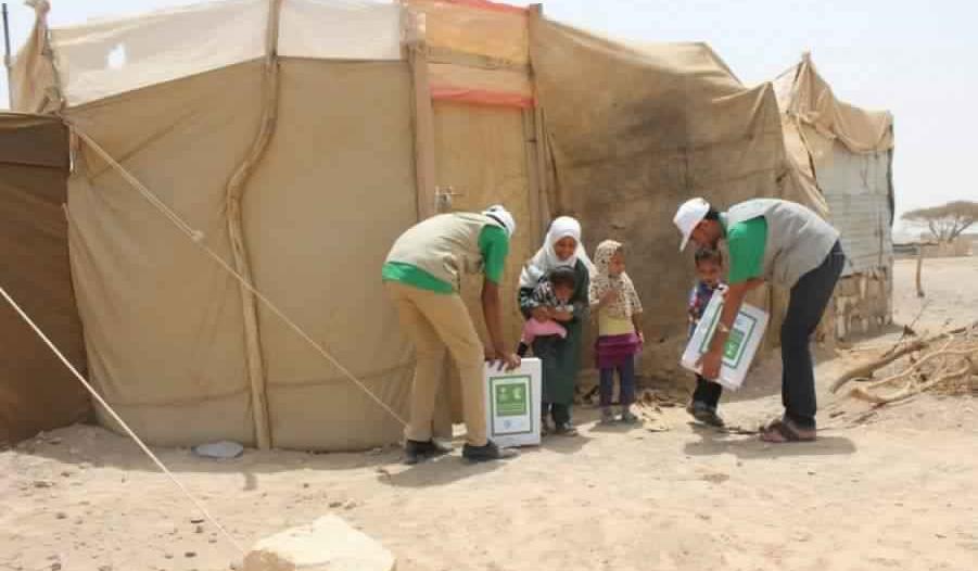 بالصور.. المملكة تدعم مخيم حجة وحارة التخطيط في مأرب
