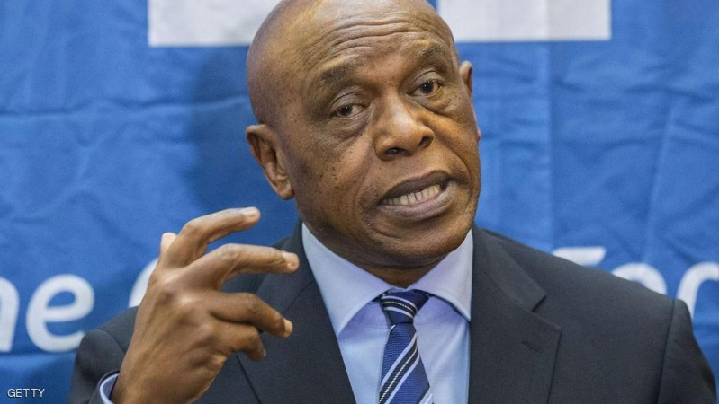 Chairman of the FIFA monitoring committee for Israel and Palestine, Tokyo Sexwale, speaks during a press conference in the Israeli Mediterranean coastal city of Tel Aviv, on October 2, 2015. Sexwale attended his first meeting in the Middle East following an initial meeting in Zurich with representatives from Israel and Palestine who confirmed their will to advance dialogue, an invitation from FIFA said. AFP PHOTO / JACK GUEZ        (Photo credit should read JACK GUEZ/AFP/Getty Images)