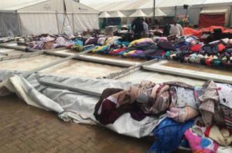 بالصور.. كيف اقتلعت الرياح خيمة تسوّق في المجمعة - المواطن