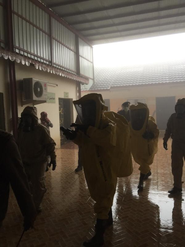 4بالصور.. تسرّب مواد كيميائية بجامعة #المندق