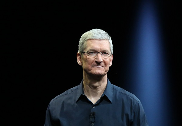 Apple CEO Tim Cook delivers his keynote address at the Worldwide Developers Conference in San Francisco, California