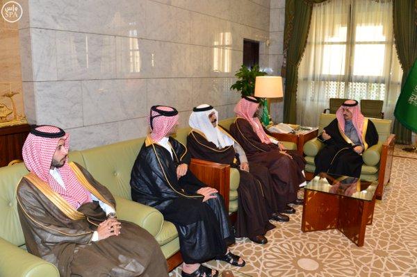 """أمير الرياض و""""آل ثاني"""" يستعرضان مشروعاً تجارياً بـ33 ملياراً في العاصمة44"""