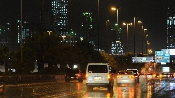 أمطار الرياض ليلآ