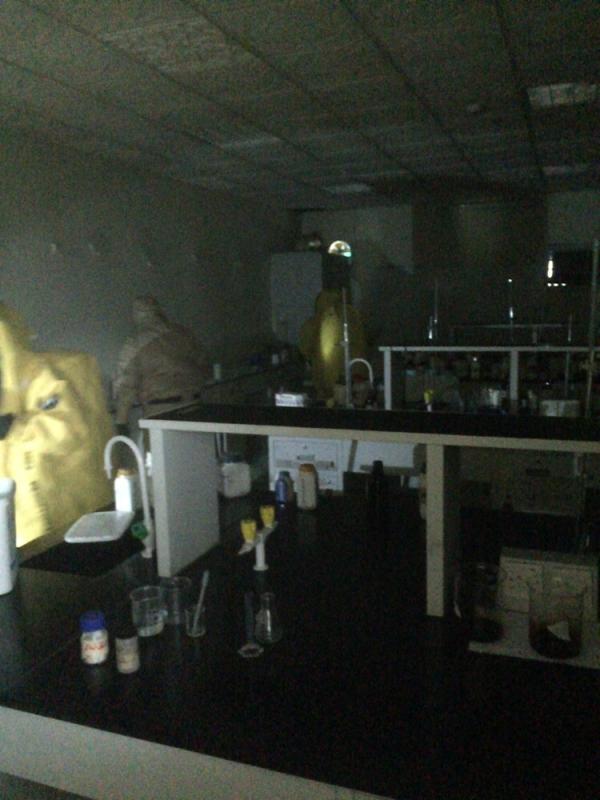 بالصور.. تسرّب مواد كيميائية بجامعة #المندق5