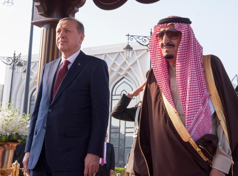 خادم الحرمين الشريفين يستقبل الرئيس التركي 5