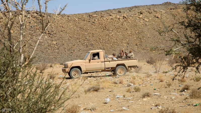 Armed Yemeni tribesmen from the Popular Resistance Committees, supporting forces loyal to Yemen's Saudi-backed President Abedrabbo Mansour Hadi, drive their vehicle as they hold a position in the area of Sirwah, west of Marib city, on December 16, 2015. Yemeni pro-government forces and Iran-backed rebels began an exchange of hundreds of detainees, as UN-brokered peace talks continued in Switzerland and a fragile two-day-old ceasefire appeared to hold.    AFP PHOTO /  ABDULLAH AL-QADRY / AFP / ABDULLAH AL-QADRY        (Photo credit should read ABDULLAH AL-QADRY/AFP/Getty Images)