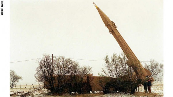 US Navy Personnel Set Up A Scud Missle During An Exercise Involving The Mili