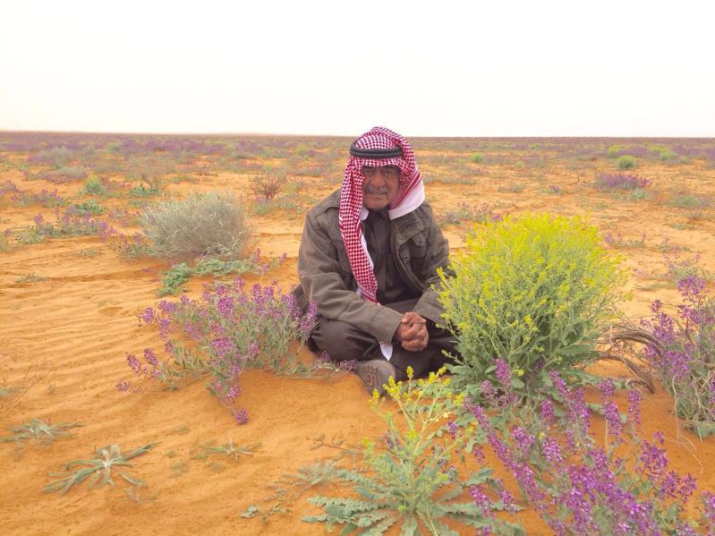 شاهد.. الأمير مقرن بين زهور خزامى الشمال