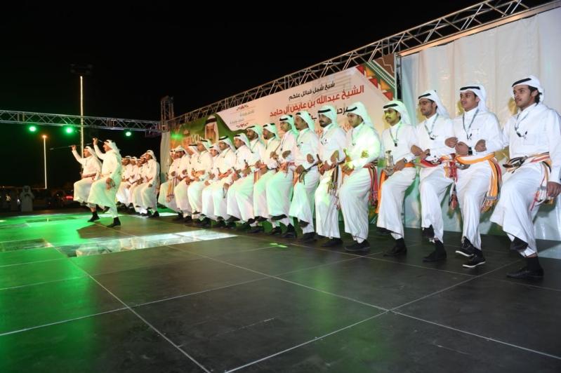لوحات فلكلورية في احتفاء آل حامد بأمير عسير ونائبه - المواطن