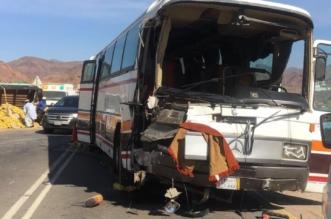 إصابتان في حادث باص طريق المدينة - ينبع - المواطن