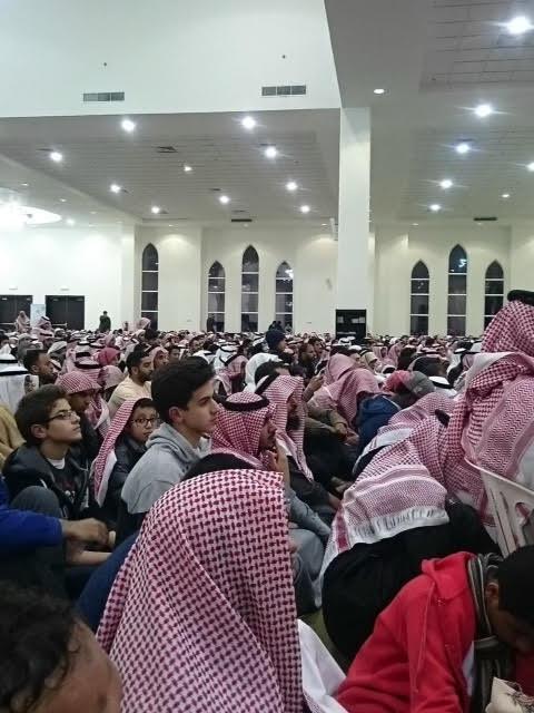 حضور كثيف لمحاضرة #المغامسي في #الجبيل