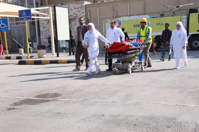 تجربة إخلاء فرضية بمدينة سعود الطبية7