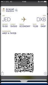 """#الخطوط_السعودية توفر بطاقات الصعود على ساعات """"أبل""""7"""