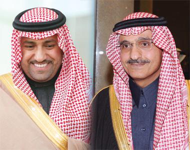 امير الرياض الامير خالد بن بندر بن عبدالعزيز -  نائب امير الرياض الامير تركي بن عبدالله بن عبدالعزيز