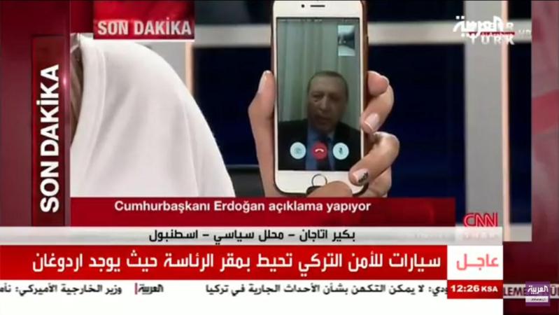 اردوغان يدعو الشعب للنزول للشارع انقلاب تركيا