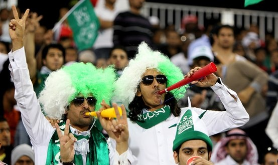 مشجعين سعوديين للمنخب
