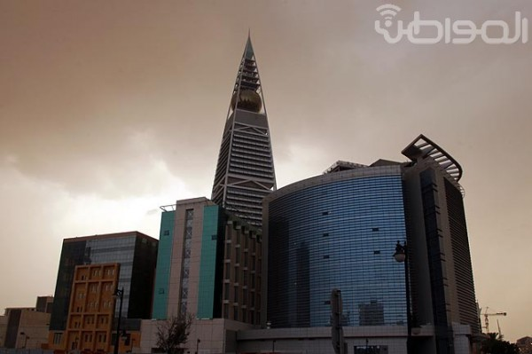 مطر - غبار الرياض