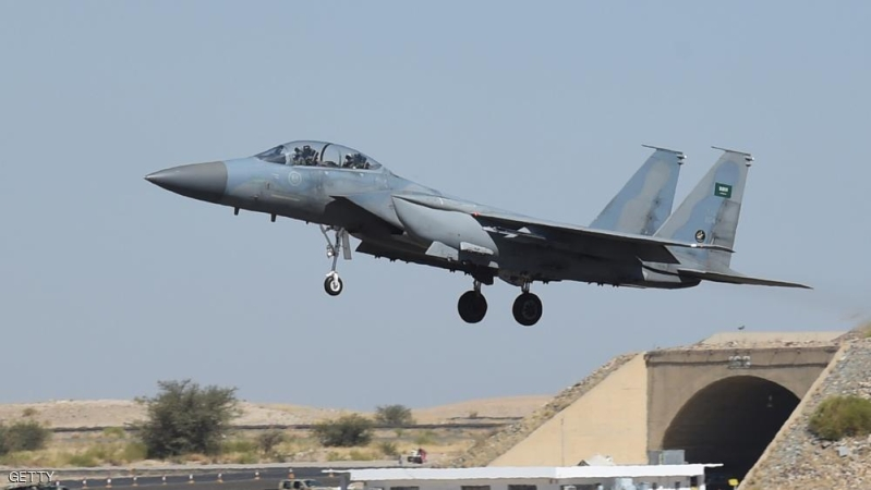 TO GO WITH AFP STORY BY IAN TIMBERLAKE A picture taken on November 16, 2015 shows a Saudi F-15 fighter jet landing at the Khamis Mushayt military airbase, some 880 km from the capital Riyadh, as the Saudi army conducts operations over Yemen.  AFP PHOTO / FAYEZ NURELDINE === PHOTO TAKEN DURING A GUIDED MILITARY TOUR === / AFP / FAYEZ NURELDINE        (Photo credit should read FAYEZ NURELDINE/AFP/Getty Images)