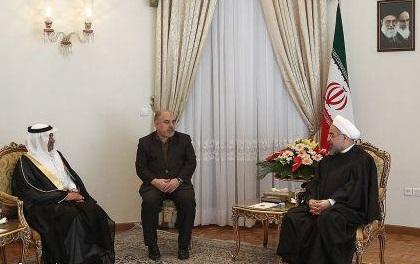 استقبل الرئيس الرئيس الايراني حسن روحاني اليوم سفير المملكة العربية السعودية الجديد في طهران عبدالرحمن بن غرمان الشهري