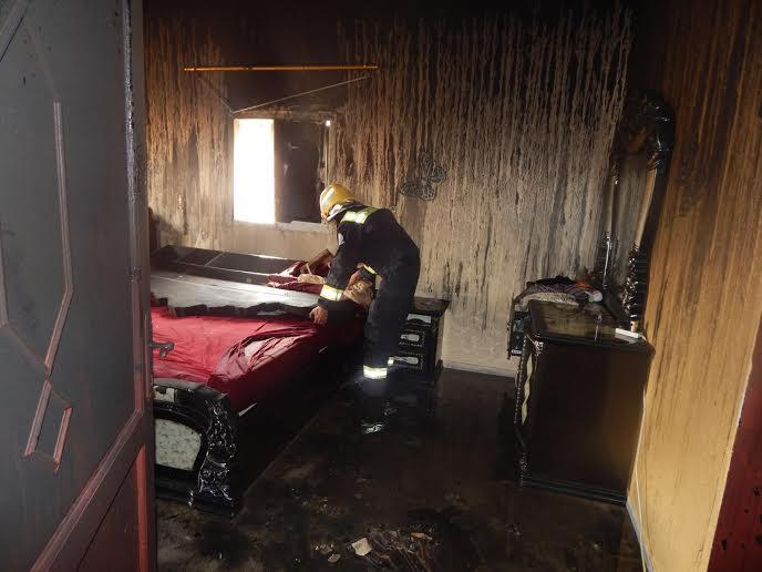 وفاة طفلين اختناقًا إثر حريق منزلهما بـ #العارضة8