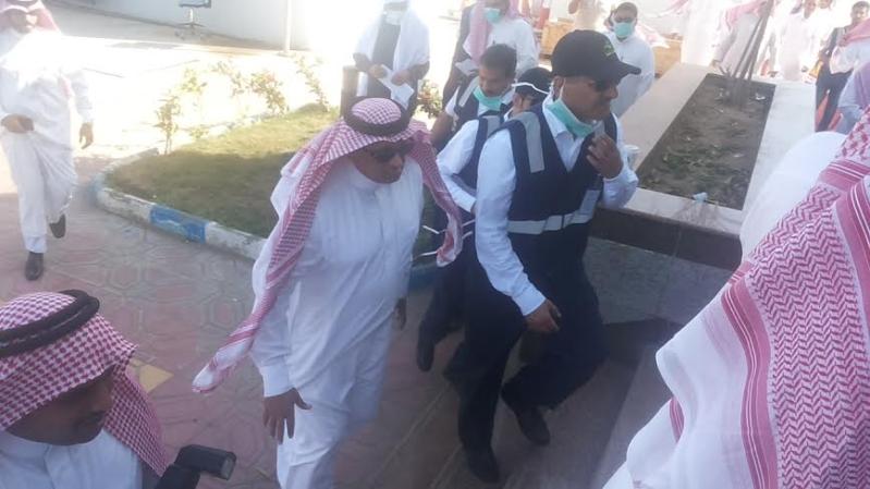 نائب وزير الصحة يزور موقع #حريق_مستشفى_جازان_العام8