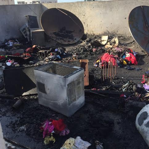 بالصور.. إخماد حريق مخلفات على بناية بروضة #جازان8