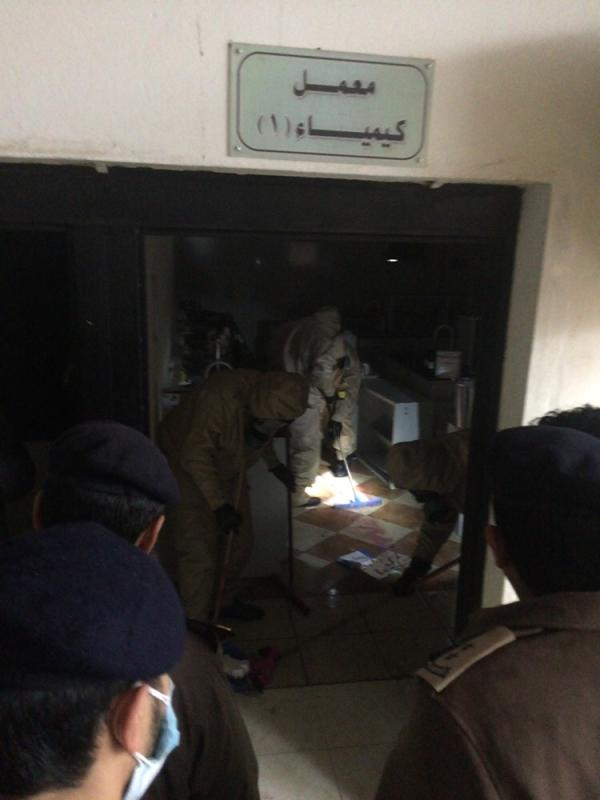 بالصور.. تسرّب مواد كيميائية بجامعة #المندق