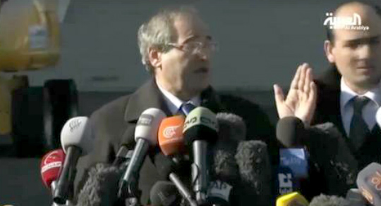 موظف بسفارة سوريا بجنيف يعطي توجيهات للمقداد - المواطن